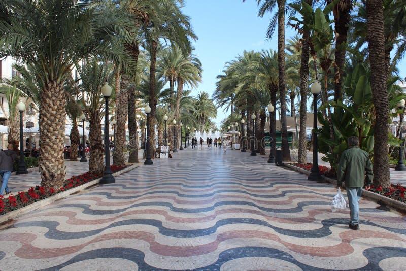 De weg van Alicante stock afbeelding