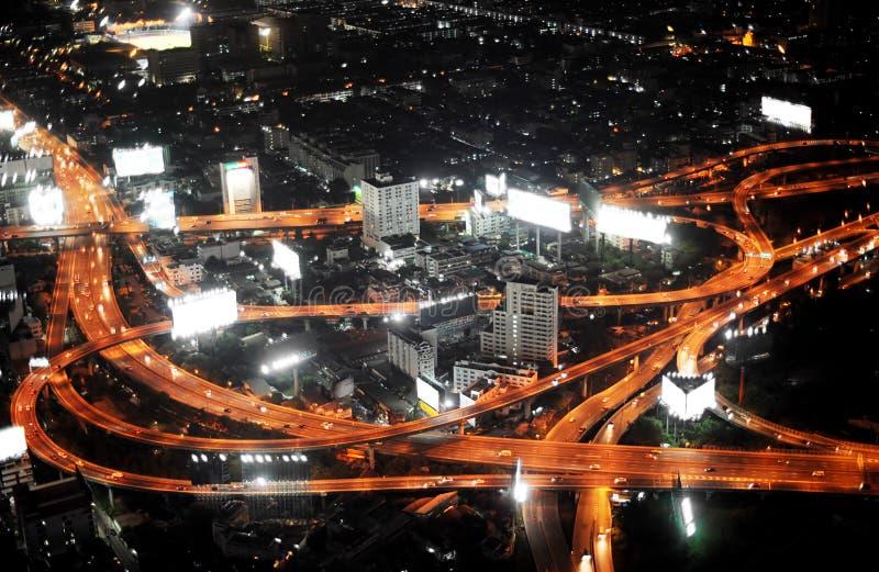De weg van Bangkok stock afbeeldingen