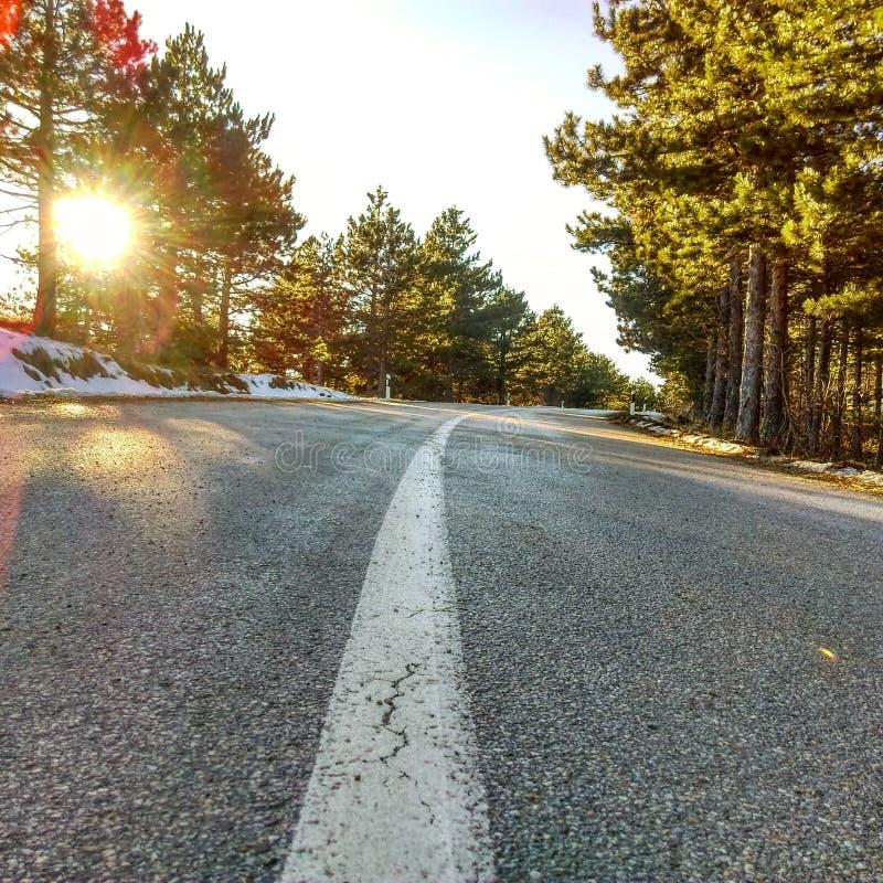 De weg van de berg stock fotografie