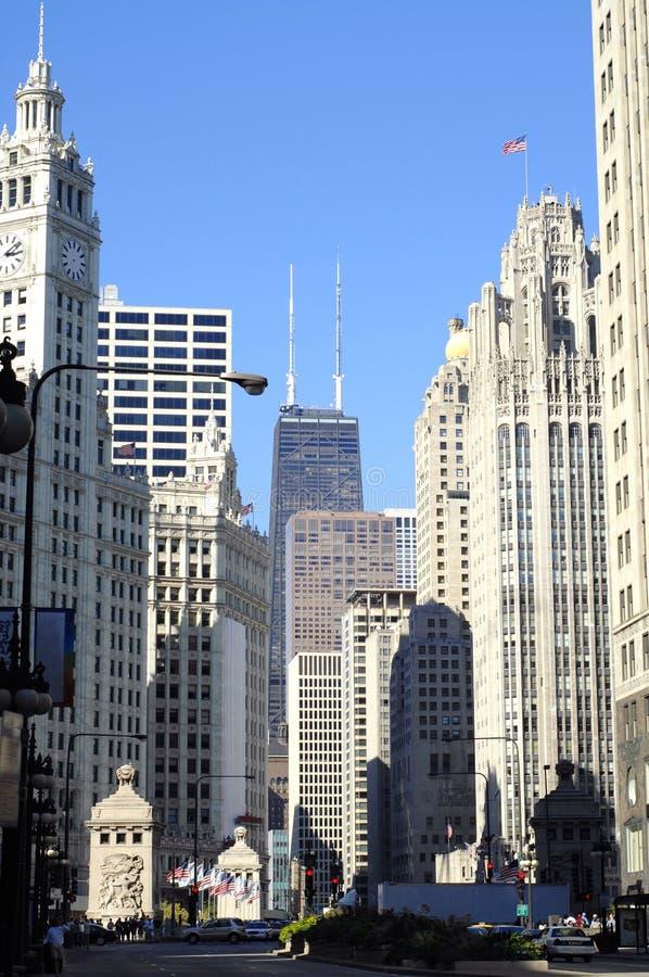 De Weg van Chicago, Michigan stock foto