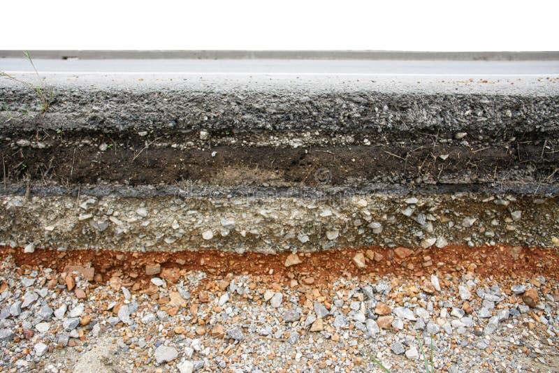 De weg van de asfaltlaag stock afbeelding