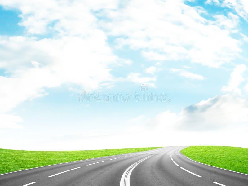 De weg van de auto stock foto