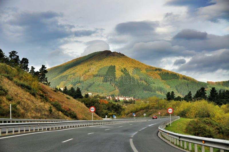 De weg van de berg spanje royalty-vrije stock foto's