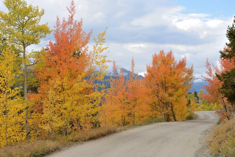 De weg van de de herfstberg royalty-vrije stock afbeeldingen