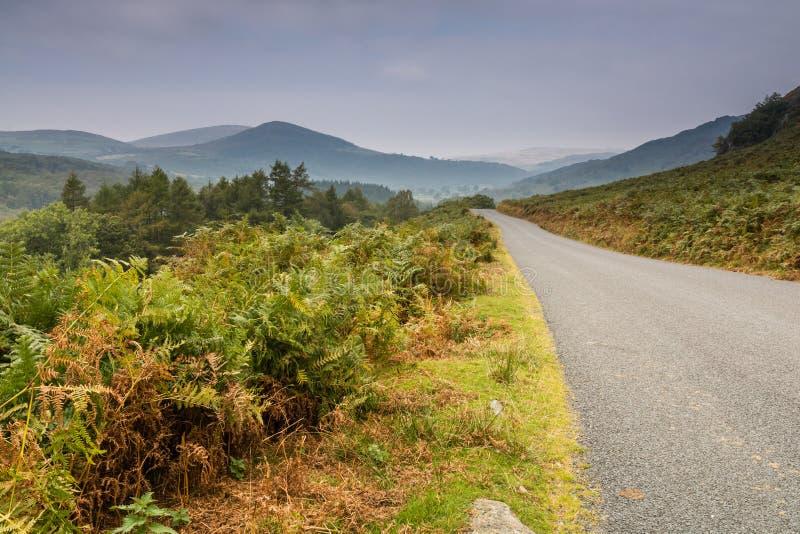 De weg van de Duddonvallei stock fotografie