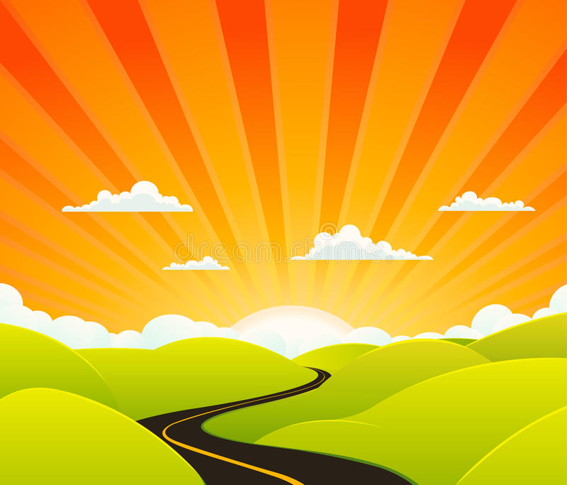 De Weg van de hemel stock illustratie