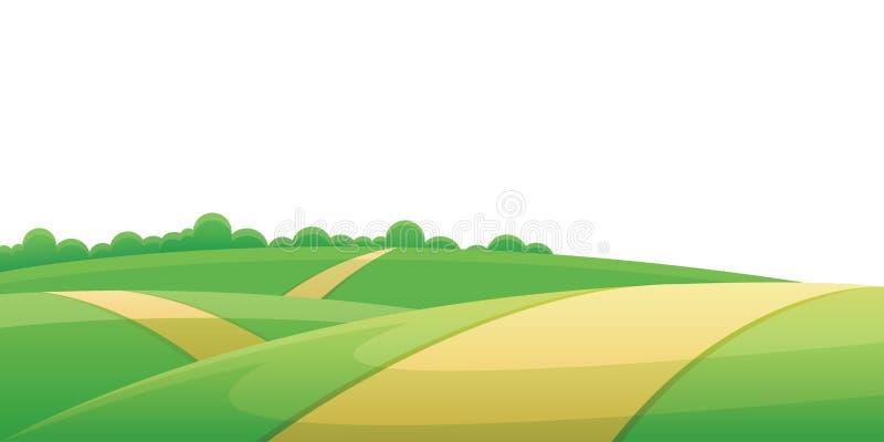 De weg van de heuvel vector illustratie