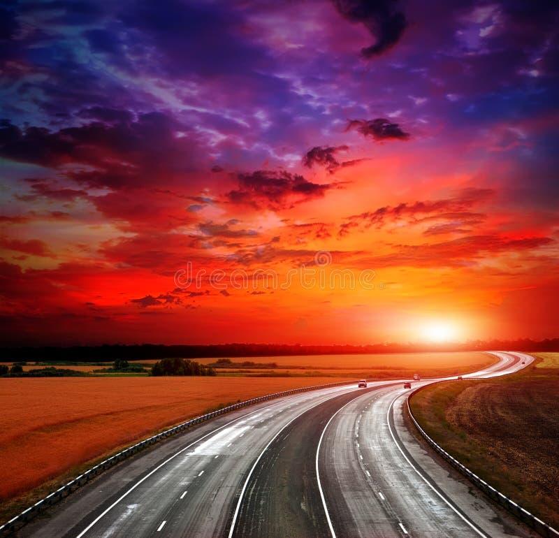 De weg van de hoge snelheid stock afbeelding