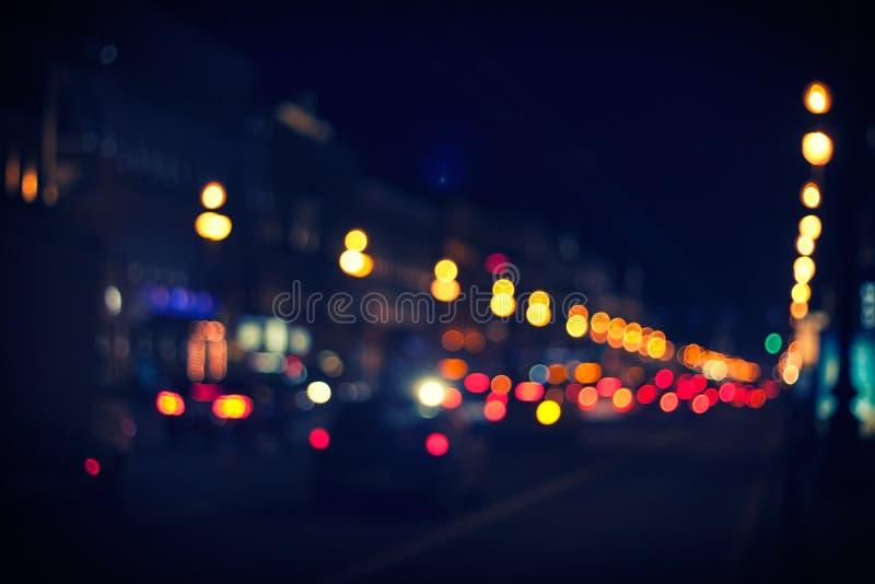 De weg van de nachtstad royalty-vrije stock afbeelding