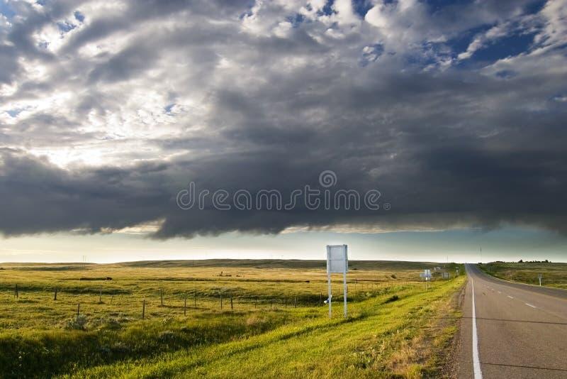 De Weg van de prairie royalty-vrije stock foto