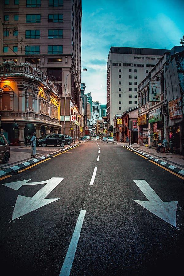 De weg van de stad stock afbeelding