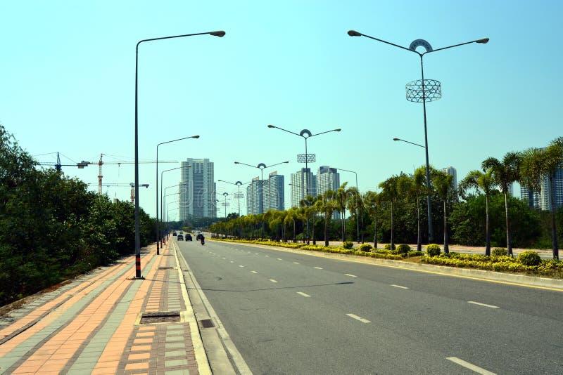 De weg van de stad stock fotografie