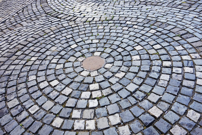 De weg van de steen stock afbeeldingen