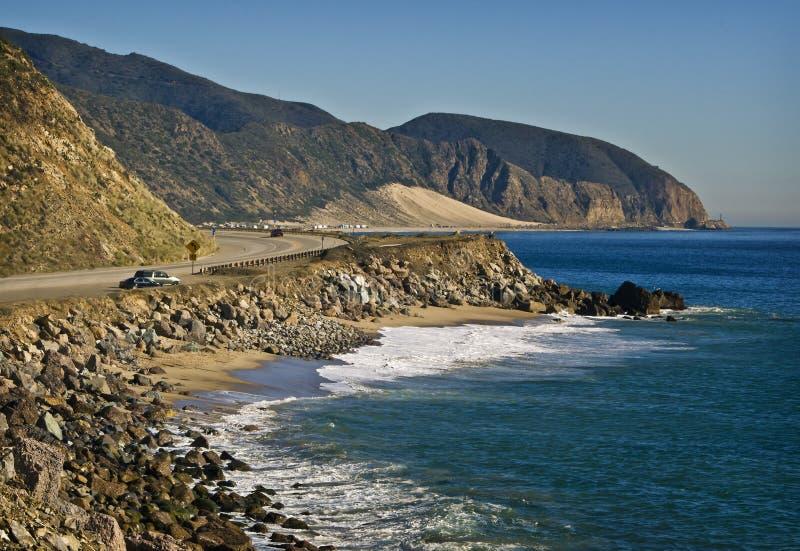 De Weg van de vreedzame Kust, Californië royalty-vrije stock foto's