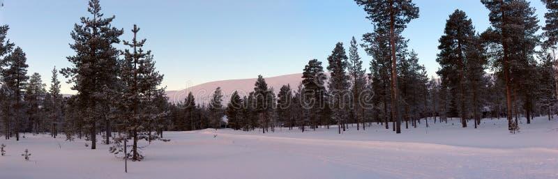 De weg van de winter royalty-vrije stock afbeeldingen