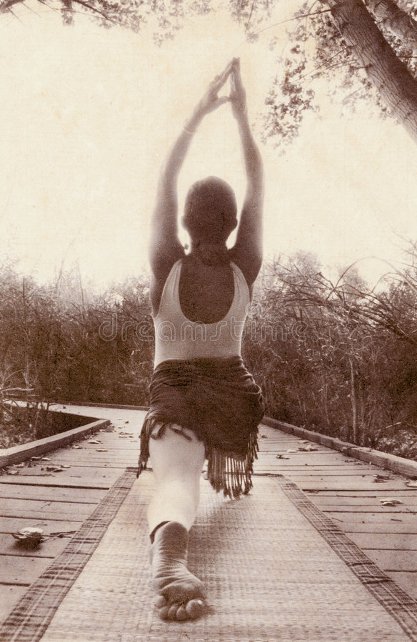 De Weg van de yoga royalty-vrije stock afbeelding