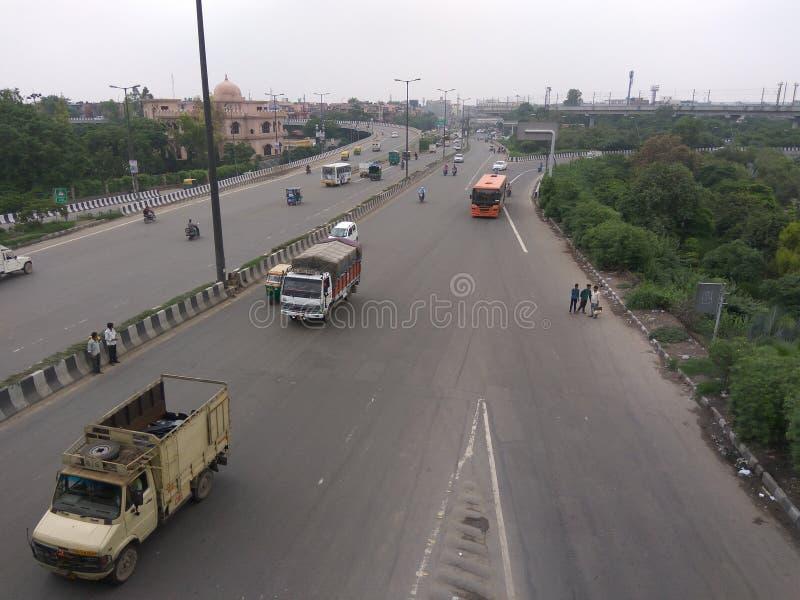 De weg van Delhi stock foto's