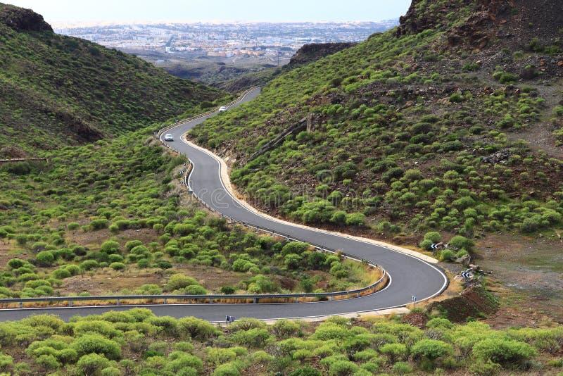 De weg van Gran Canaria royalty-vrije stock fotografie