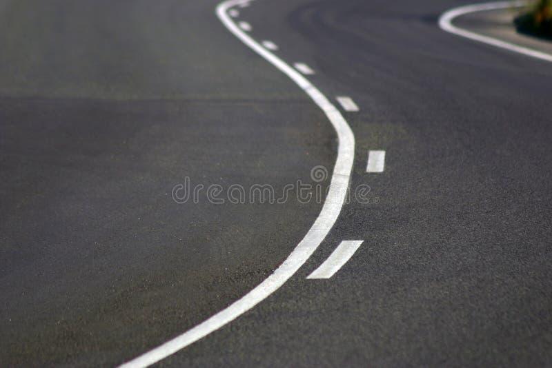 De weg van het asfalt stock foto's