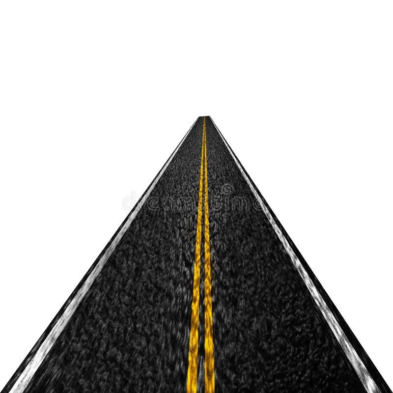 De weg van het asfalt royalty-vrije illustratie