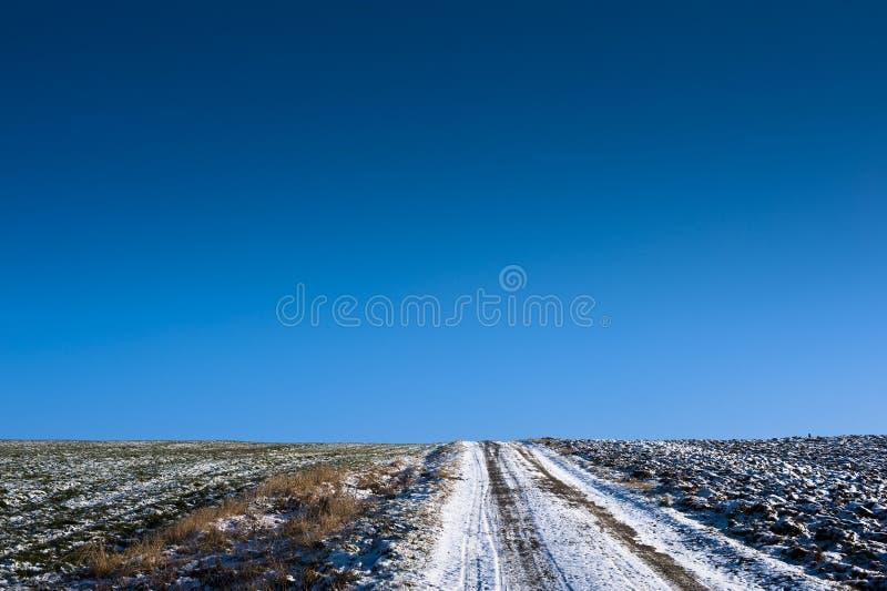 De weg van het gebied op horizon royalty-vrije stock foto