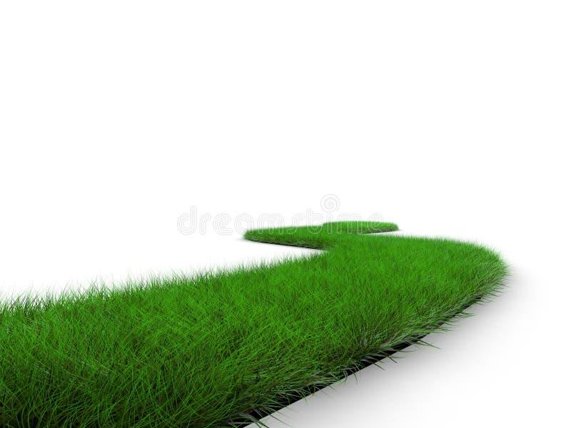 De weg van het gras stock illustratie