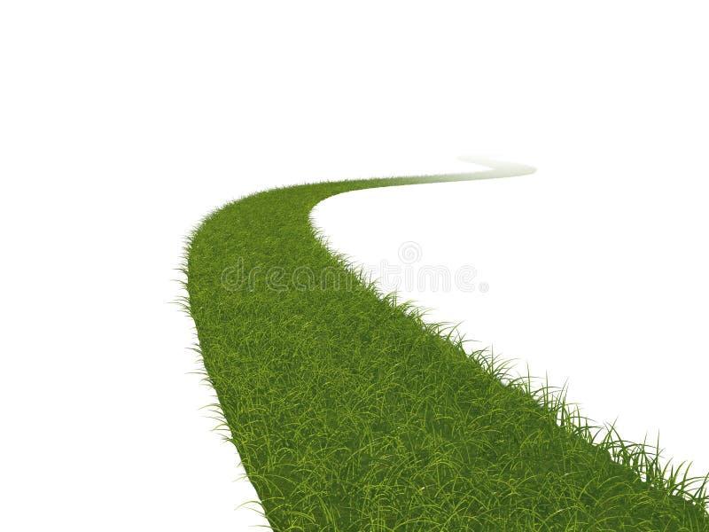 De weg van het gras vector illustratie
