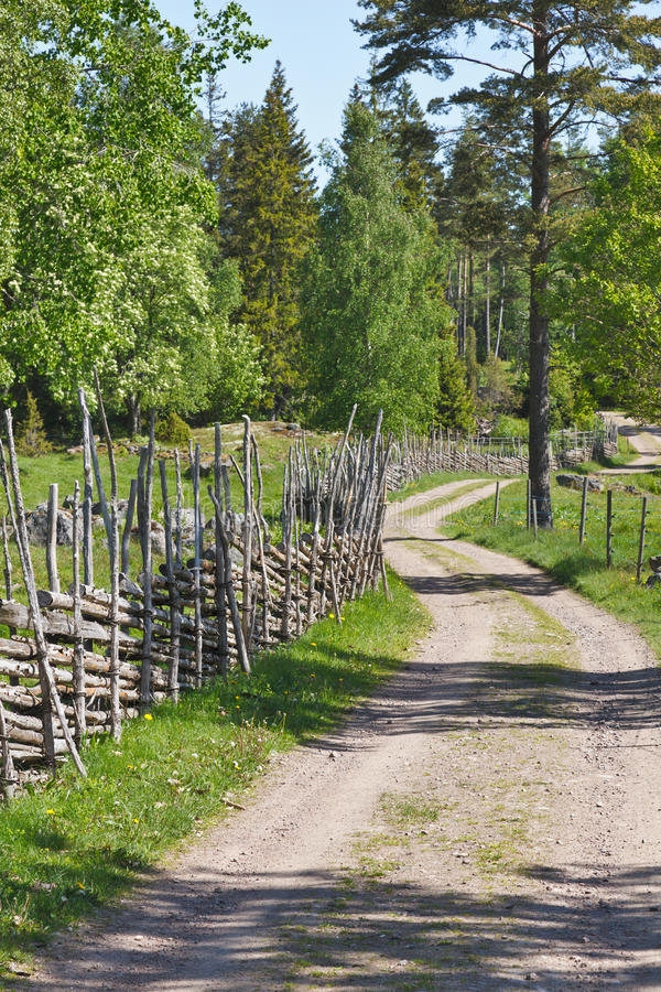 De weg van het grint stock afbeeldingen