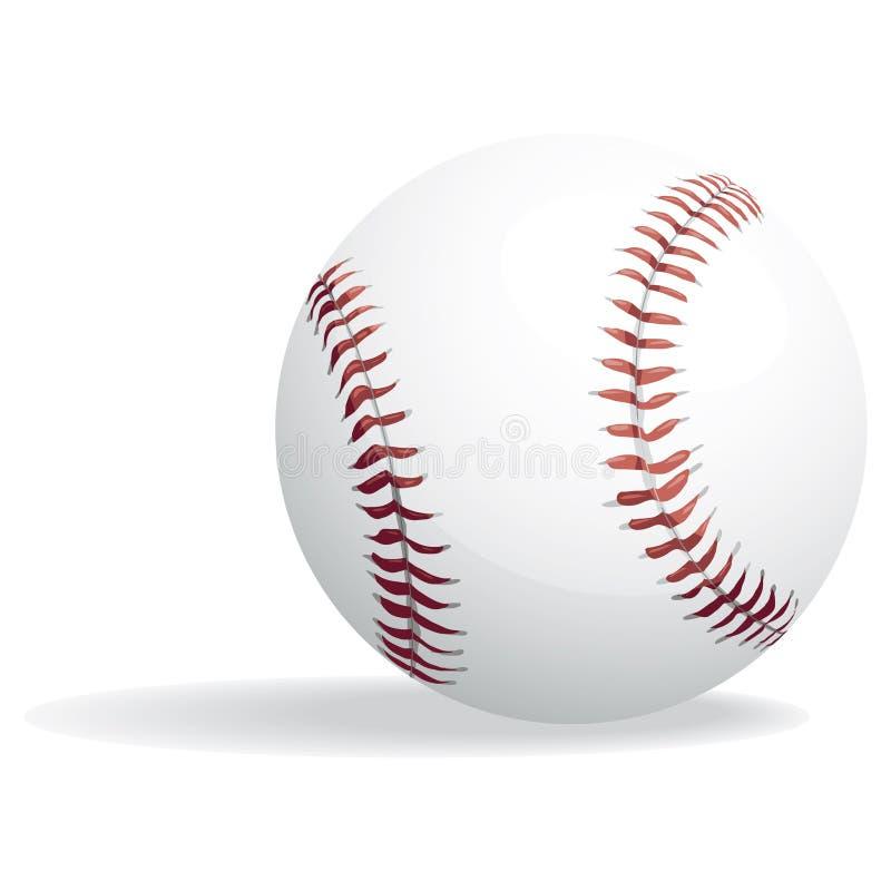 De weg van het honkbal en het knippen royalty-vrije illustratie