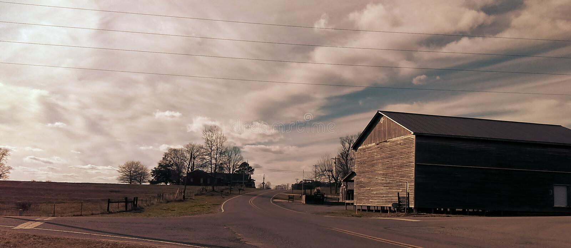 De Weg van het land stock fotografie
