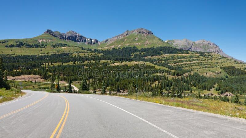 De Weg van het miljoen dollar bij Molas Pas, Colorado stock fotografie