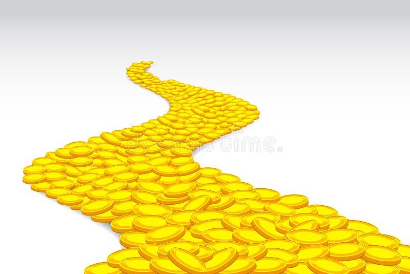 De Weg van het muntstuk royalty-vrije illustratie