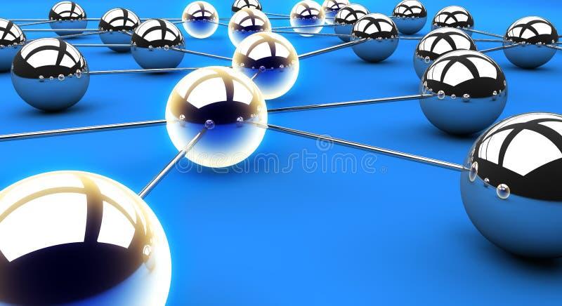 De weg van het netwerk vector illustratie