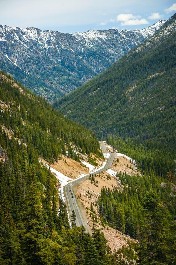 De Weg van het noordencascades stock afbeeldingen