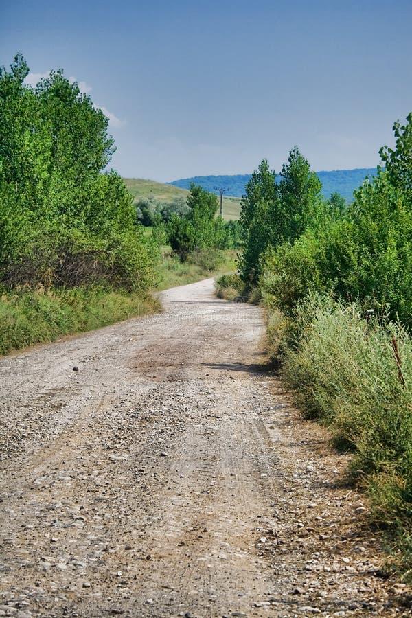 De weg van het platteland royalty-vrije stock fotografie