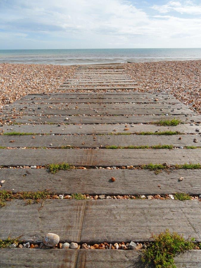 De Weg van het strand royalty-vrije stock fotografie