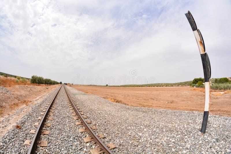 De weg van het treinspoor stock fotografie