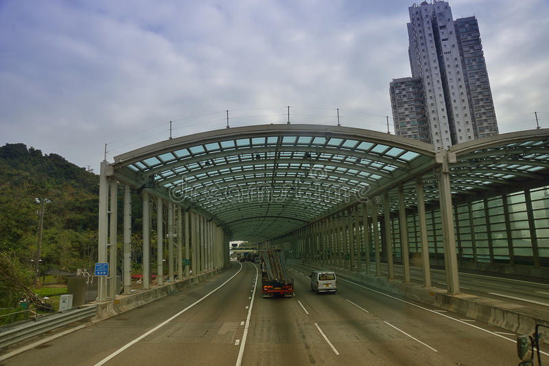De Weg van Hongkong stock afbeelding
