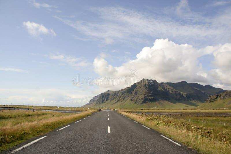 De weg van IJsland stock foto's