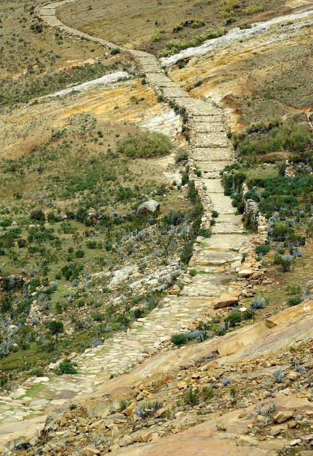 De weg van Inca, Bolivië stock fotografie