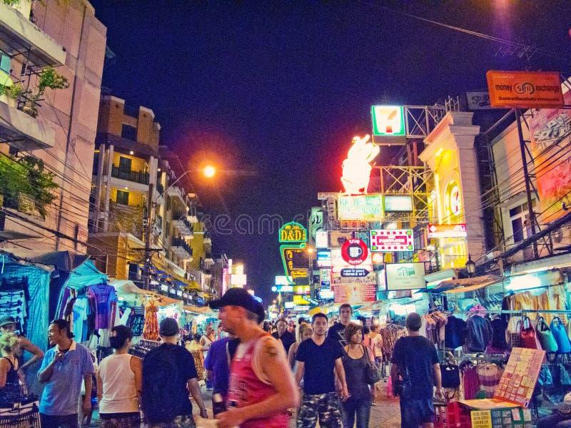 De weg van Khao San royalty-vrije stock fotografie