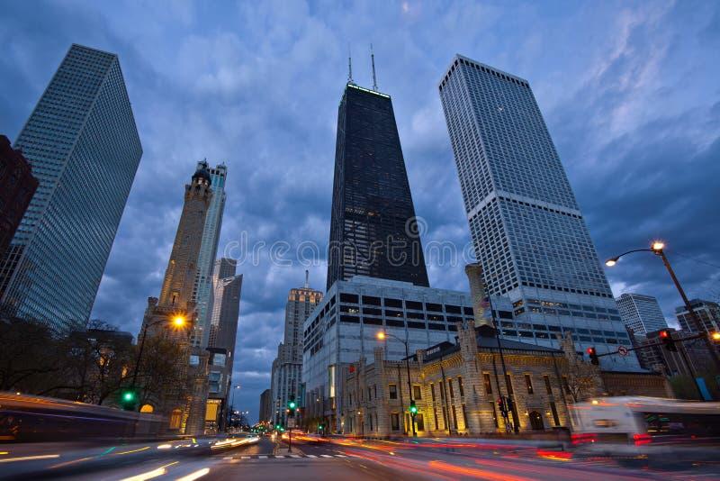 De Weg van Michigan in Chicago. royalty-vrije stock fotografie