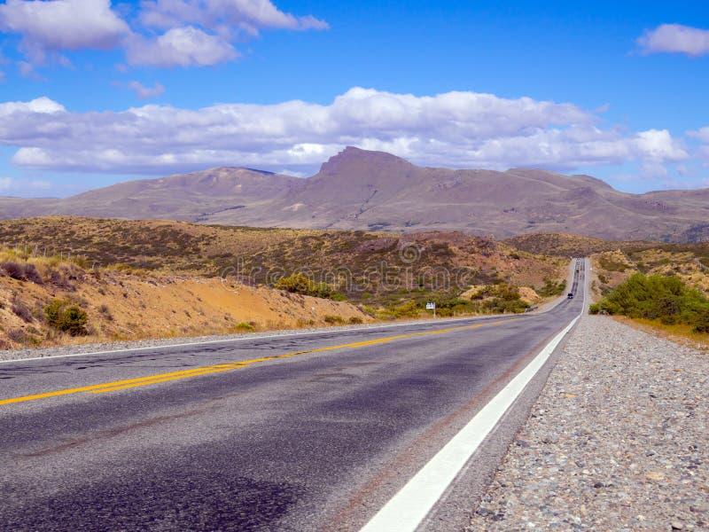 De weg van Patagonië stock afbeelding
