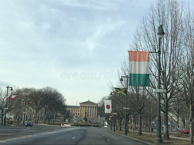 De weg van Philadelphia stock afbeeldingen