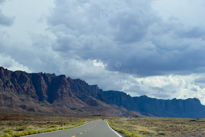 De weg van Verenigde Staten, Arizona, de V.S. stock foto's