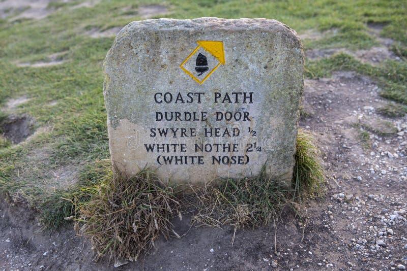 De Weg van de zuidwestenkust in Dorset stock afbeelding