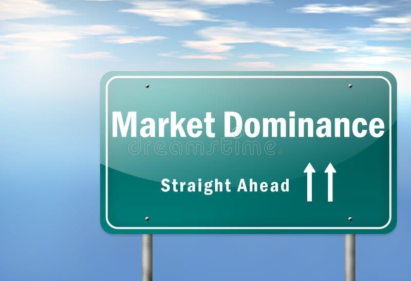 De weg voorziet Marktoverheersing van wegwijzers royalty-vrije illustratie