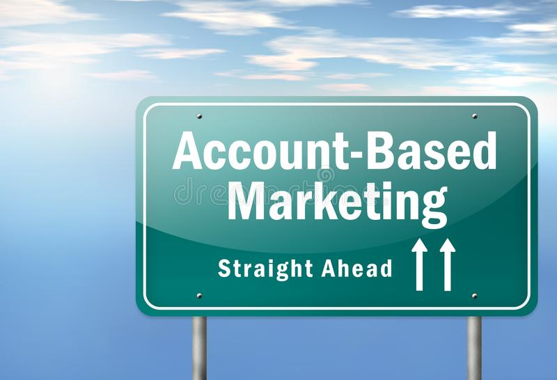 De weg voorziet rekening-Gebaseerde Marketing van wegwijzers stock illustratie