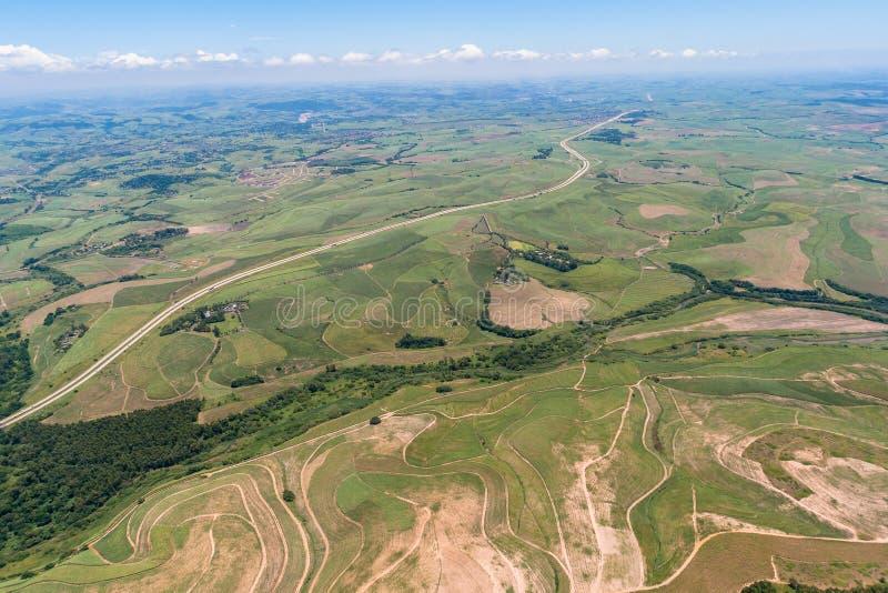De Wegen van het Suikerriet van de lucht stock foto