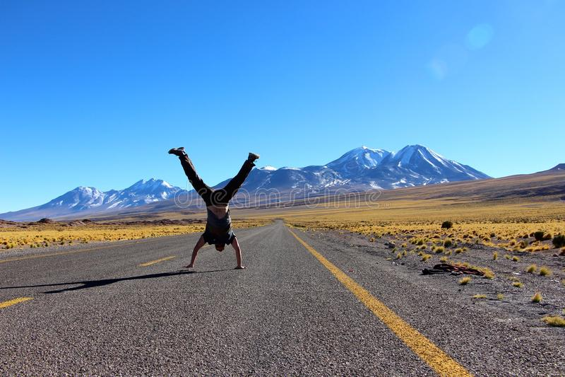 De wegen van San Pedro de Atacama stock foto
